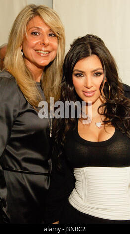 (L-R) Manush Marukian and Kim Kardashian at the launch of Heavenly Sinful Jewels and GENLUX Magazine party on the - Stock Photo