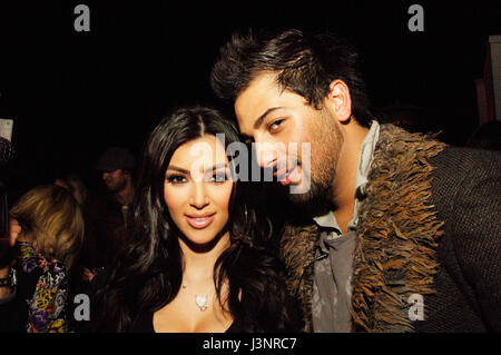 (L-R) Kim Kardashian, Avo Yermagyan at the launch of Heavenly Sinful Jewels and GENLUX Magazine party on the rooftop - Stock Photo