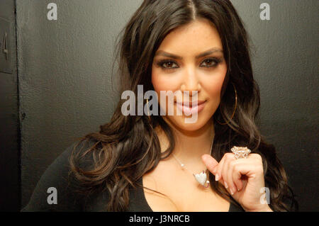 Kim Kardashian inside for the launch of Heavenly Sinful Jewels and GENLUX Magazine party on the rooftop at the Luxe - Stock Photo