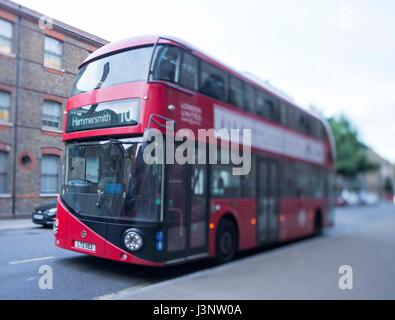 London double decker red bus - Stock Photo