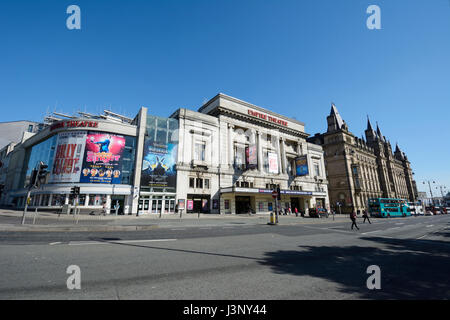 The Empire Theatre on Lime Street in Liverpool on the corner of London Road and facing the iconic St. Georges Hall. - Stock Photo