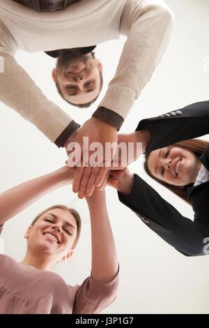 Building successful team concept, business partnership, teamwork - Stock Photo
