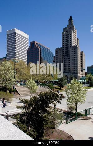 Downtown Providence, Rhode Island, USA - Stock Photo