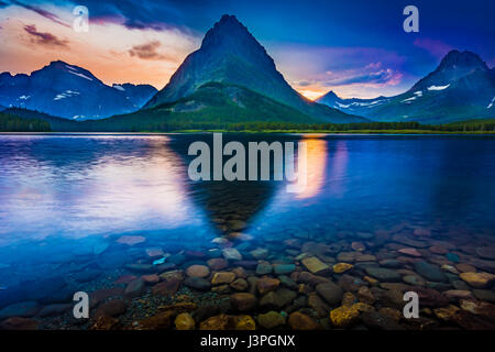 Swiftcurrent Lake is located in the Many Glacier region of Glacier National Park, in the U.S. state of Montana. The Many Glacier Hotel, the largest ho