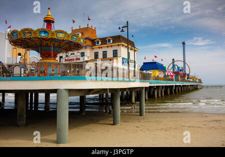 Galveston is a coastal city located on Galveston Island and Pelican Island in the U.S. state of Texas. Named after - Stock Photo