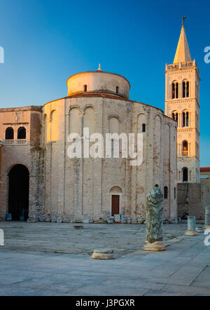The Church of St. Donatus is a church located in Zadar, Croatia. Its name refers to Donatus of Zadar, who began - Stock Photo