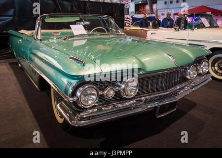 STUTTGART, GERMANY - MARCH 03, 2017: Full-size car Oldsmobile Super 88 Convertible, 1959. Europe's greatest classic - Stock Photo