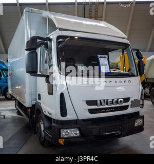 STUTTGART, GERMANY - MARCH 03, 2017: Truck Iveco Eurocargo, 2011. Europe's greatest classic car exhibition 'RETRO - Stock Photo