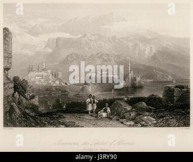 Ioannina, the Capital of Albania Turkey in Europe   Walsh Robert & Allom Thomas   1836 - Stock Photo