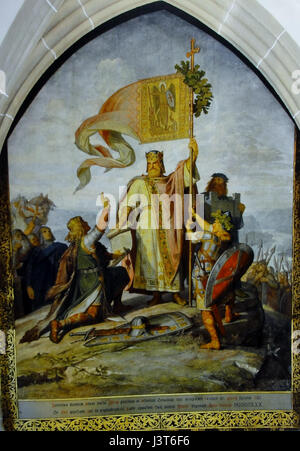 King of the Holy Roman German Empire Henry I. the Fowler - Stock Photo