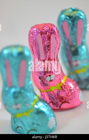 Chocolate easter Bunnies - Stock Photo