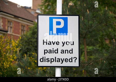 A parking sign in Bristol Royal Infirmary (BRI) - Stock Photo