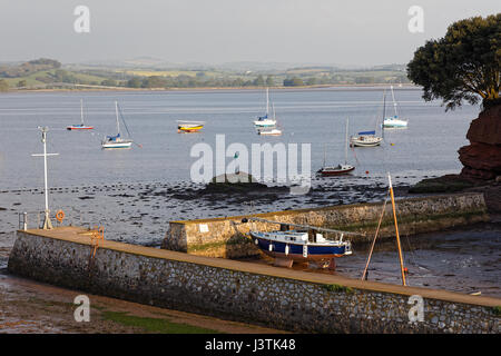 Lympstone Boat Shelter on the River Exe estuary - Stock Photo