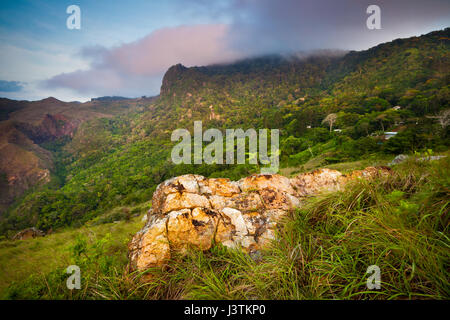 Early morning light in Altos de Campana National Park, Cordillera Central, Panama province, Pacific slope, Republic - Stock Photo