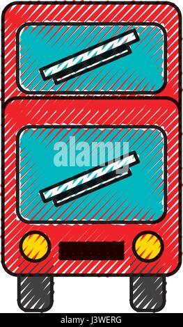bus transport vehicle icon - Stock Photo