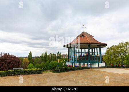 The restored Bandstand, Horniman Gardens, Forest Hill, London - Stock Photo
