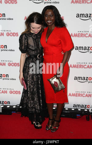 The 'American Gods' - UK TV Premiere held at One Marylebone - Arrivals Featuring: Emily Browning, Yetide Badaki - Stock Photo