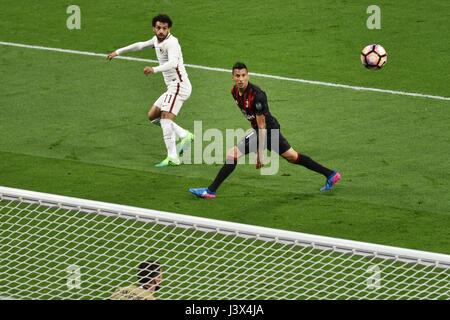 Milan, Italy. 7th May, 2017. italian serie A soccer match AC Milan vs AS Roma, at the san siro stadium, in Milan. - Stock Photo
