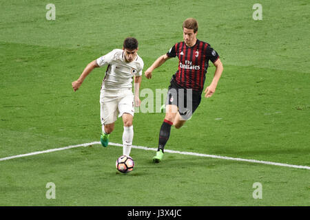 Milan, Italy. 7th May, 2017. italian serie A soccer match AC Milan vs AS Roma, at the san siro stadium, in Milan. - Stock Photo