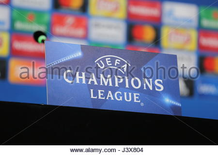 Turin, Italy. 08th May, 2017. Media day on the eve of the UEFA Champions League football match between Juventus - Stock Photo