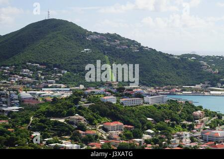 A view over St Thomas Island, U.S. Virgin Islands. - Stock Photo
