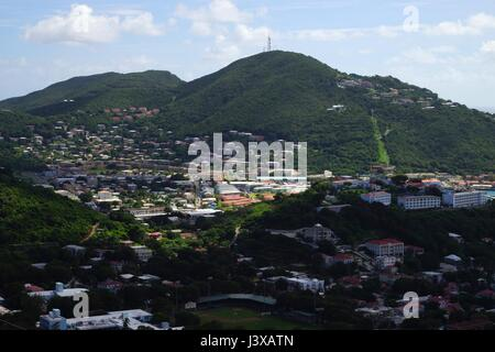 A view over St Thomas Island, U.S. Virgin Islands - Stock Photo