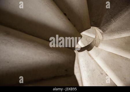 Sagrada Familia, interior view, spiralling staircase, Barcelona, Catalonia, Spain - Stock Photo