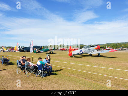 Spectators at the Wings over Illawarra 2017 Airshow, Albion Park, NSW, Australia - Stock Photo