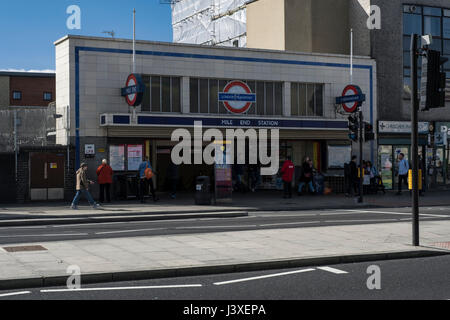 Mile End station - Stock Photo