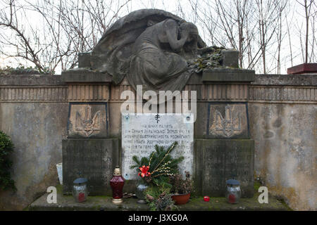 Monument to 154 Ukrainian soldiers fallen during the First World War in service of the Austro-Hungarian Army and - Stock Photo