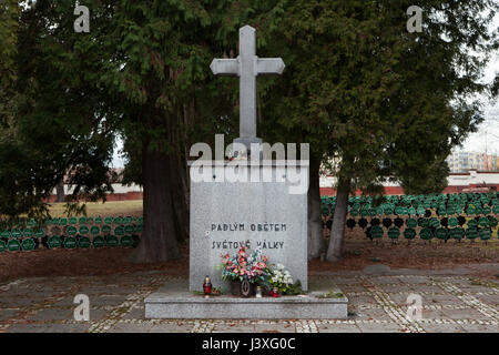 Monument to Czech soldiers fallen during the First World War in service of the Austro-Hungarian Army on the ground - Stock Photo