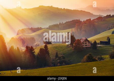 Scenic view, Appenzell, Appenzellerland, Switzerland - Stock Photo