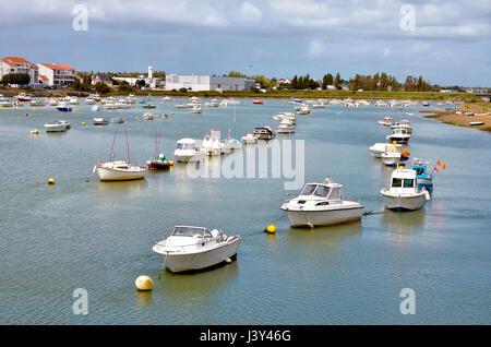Port of Saint-Gilles-Croix-de-Vie, commune in the Vendée department in the Pays de la Loire region in western France - Stock Photo