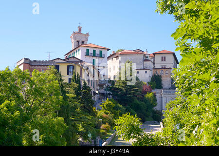 Village of  Santa Maria del Monte, a comune of Varese in north-western Lombardy in Italy - Stock Photo