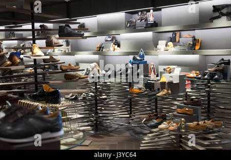 Siam Discovery Shopping Mall , Mens Shoes, in Bangkok - Thailand - Stock Photo