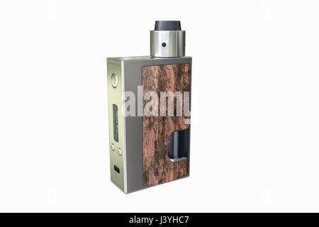 3d illustration of a box mod isolated on white background - Stock Photo