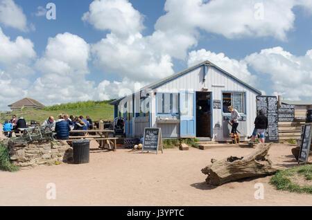 The Beach House Cafe at South Milton Sands near Thurlestone in the South Hams, Devon - Stock Photo