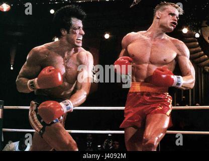 Rocky IV, aka: Der Kampf des Jahrhunderts, USA 1985, Regie: , Darsteller: Sylvester Stallone, Dolph Lundgren - Stock Photo
