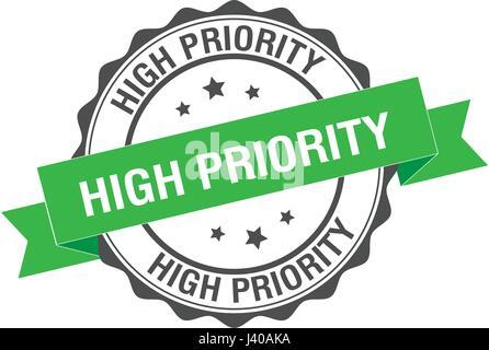 High priority stamp illustration - Stock Photo