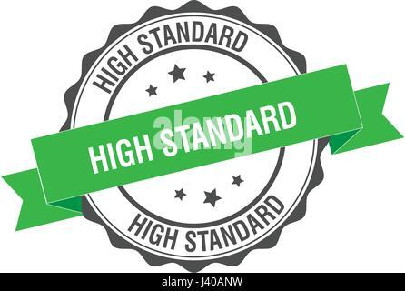 High standard stamp illustration - Stock Photo