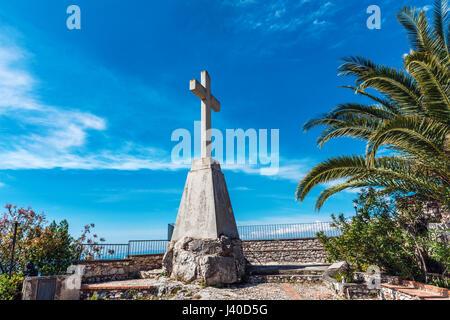 Santuario madonna della rocca (Church of Madonna) in Taormina, Sicily - Stock Photo
