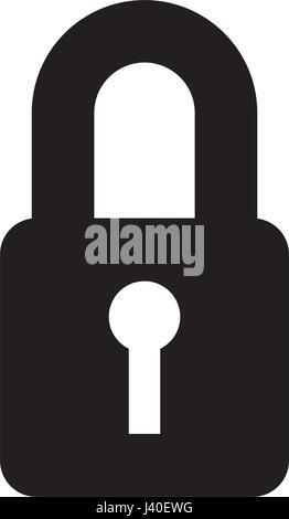 safe secure padlock icon - Stock Photo