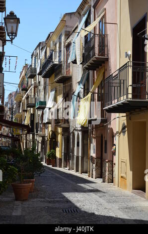 Panorama of the town Cefalu, Sicily, Italy - Stock Photo