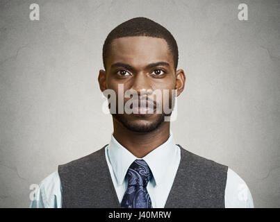 Closeup portrait, headshot, handsome happy, young, serious business man, confident student, real estate agent, isolated - Stock Photo