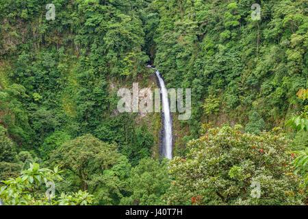 La Fortuna de San Carlos waterfall closeup view in Costa Rica - Stock Photo