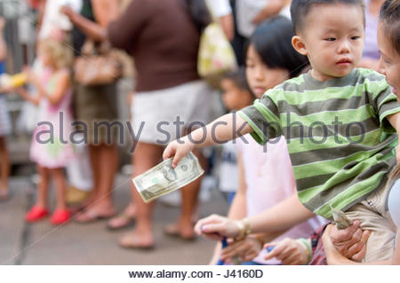 Celebration of the Chinese New Year held in the historic Chinatown district located in downtown Honolulu, Oahu, - Stock Photo