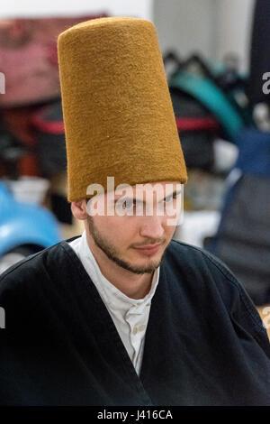 Dervish during Sema at Yaqup Baba of Fatih, Istanbul, TURKEY -  18/12/2016. In Istanbul's neighbourhood of Fatih, - Stock Photo