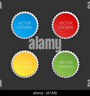 Round banners set. Vector color stickers. - Stock Photo