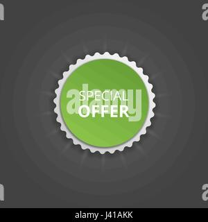 Special offer round sticker. Vector color banner - Stock Photo