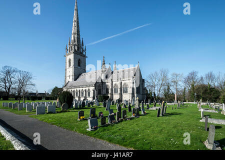 St Margaret's Church Bodelwyddan North Wales - Stock Photo